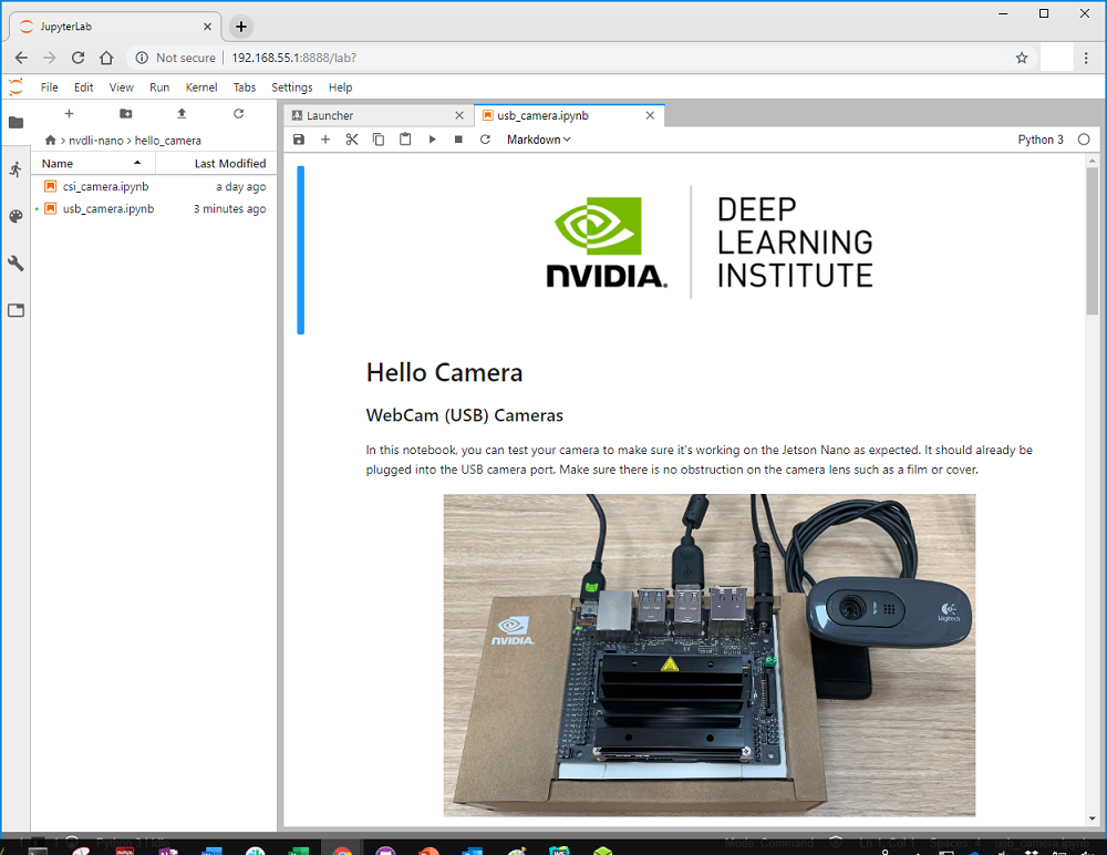 NVIDIA之AI Course:Getting Started with AI on Jetson Nano